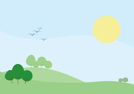 Pastel Backgrounds - Hillside Stock Vector - 3592718