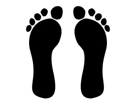 Cartoon Footprints Stock Photo - 3651177