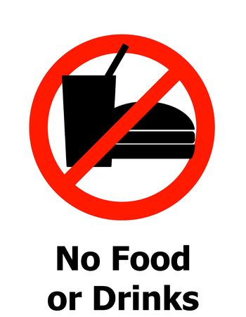no food or drinks symbol photo