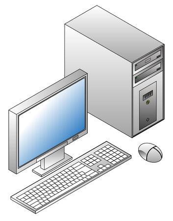 Isometric PC Stock Vector - 4269344