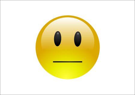 neutral face: Aqua Emoticons - Neutral