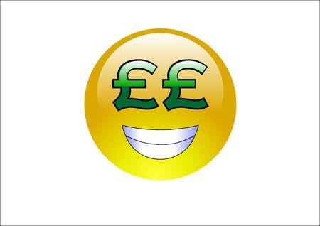 pounds money: Aqua Emoticonos - Dinero (Libras)
