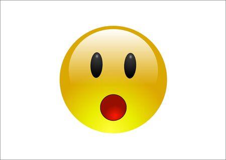 disbelief: Aqua Emoticons - Surprise Stock Photo