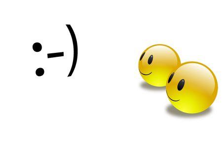 emote: Aqua Emoticons - 3d Meet 2d Stock Photo