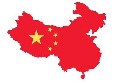 2D Map of mainland China Editorial