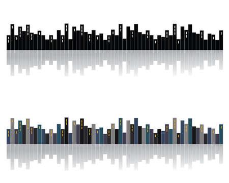 City skyline Illustration