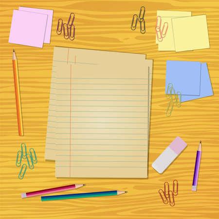 Bureau met briefpapier