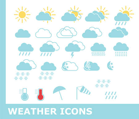 meteorologist: Weather icons Illustration