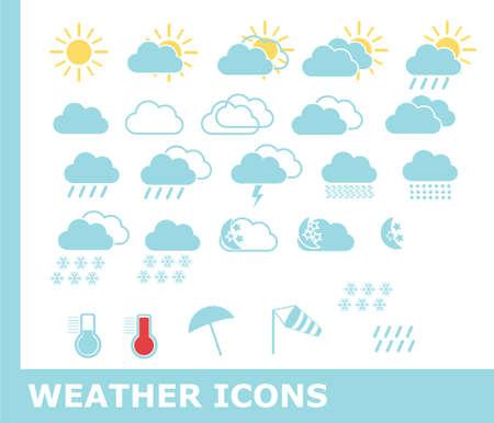 Weather icons Stock Illustratie