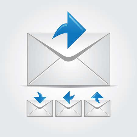 Envelopes with arrows Stock Vector - 10768401
