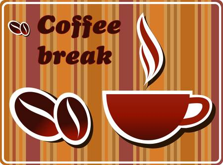 Coffee break Illusztráció