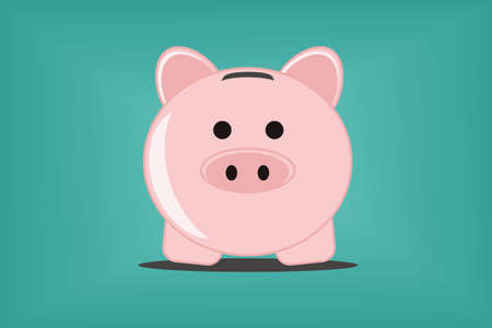 saving accounts: Piggy bank  Illustration