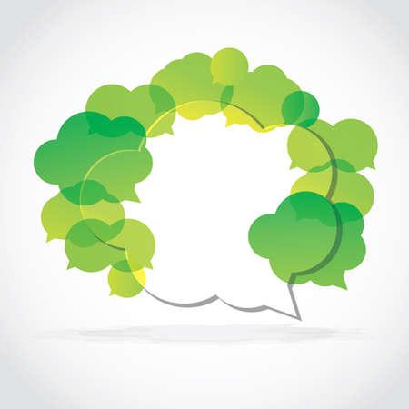 Speech cloud collection green Stock Vector - 10768436