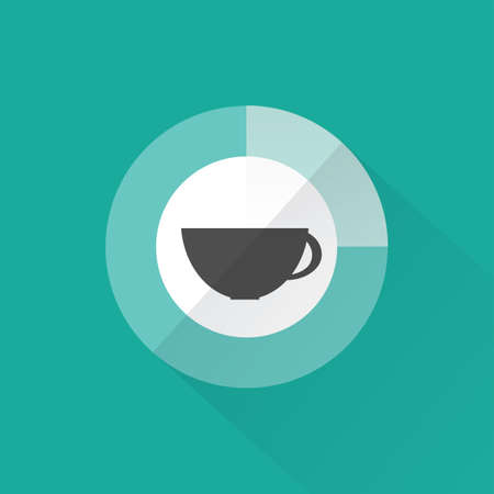 Coffee time, flat design, vector Illustration