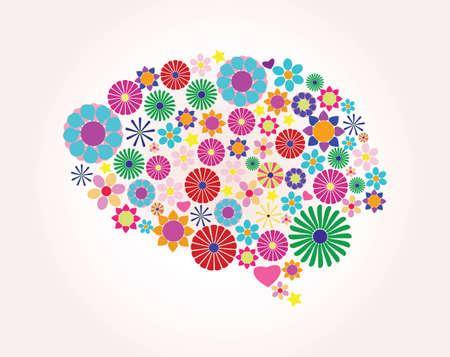 cerebro humano: Cerebro humano abstracto, creativo, vector
