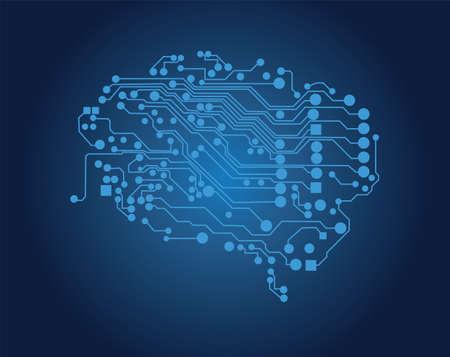 logical: Human brain, logical thinking, vector