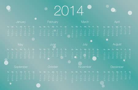 2014 calendar, vector