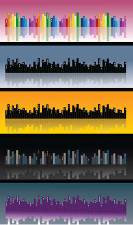 cityview: City skyline, vector Illustration