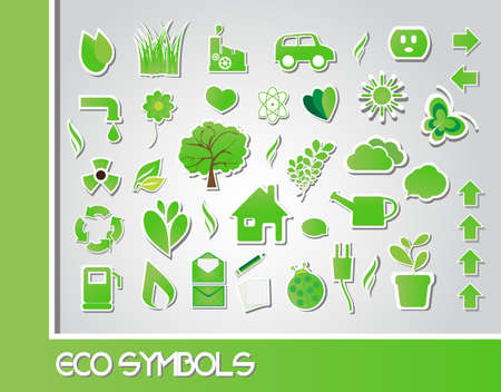 Eco symbols, vector Stock Vector - 24233720