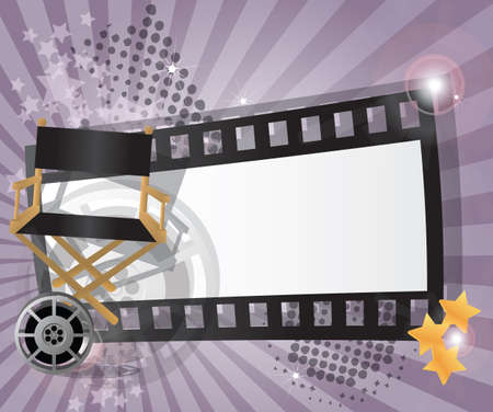 film projector: Movie background with place for text, vector Illustration
