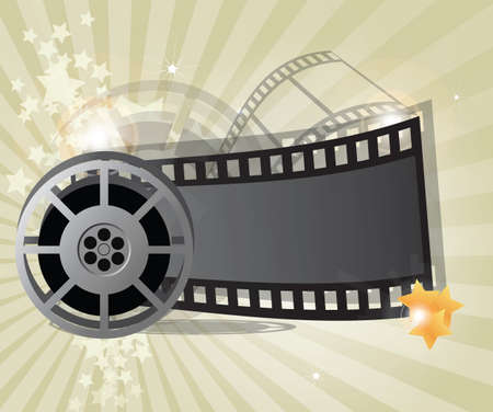 Movie background with place for text, vector Vector
