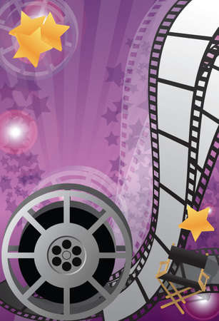director chair: Movie background vertical, vector