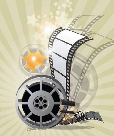 director chair: Movie poster, vector Illustration