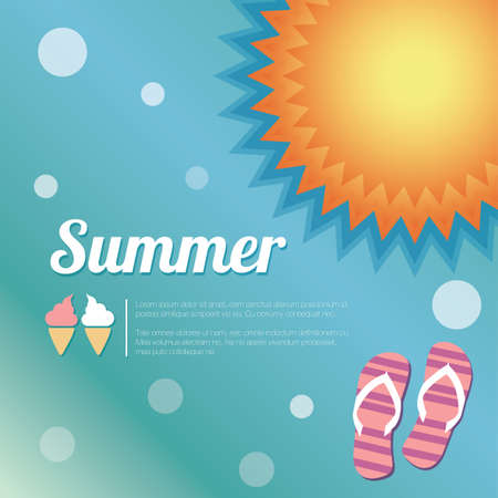 Summer holiday card, vector Vector