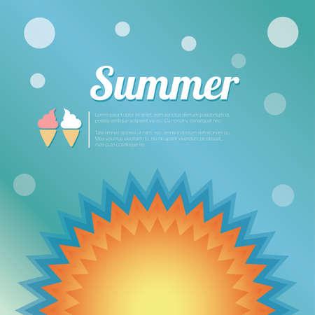 Summer holiday card, vector Illustration