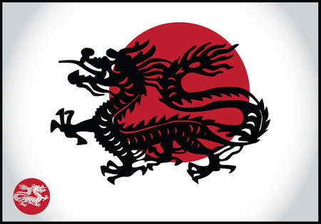 Asian traditional dragon, vector Vector