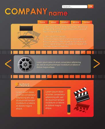 Website template, vector Stock Vector - 24307940