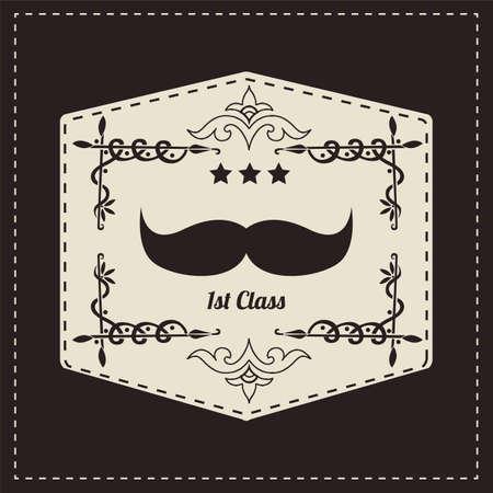 Vintage retro hipster mustache, vector illustration Stock Vector - 24822901