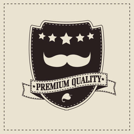 rogue: Vintage retro hipster mustache, vector illustration