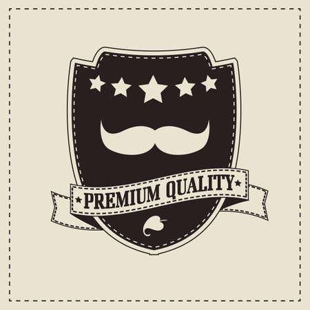 comedic: Vintage retro hipster mustache, vector illustration