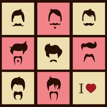 fake mustaches: I love vintage hipster hair styles and mustaches