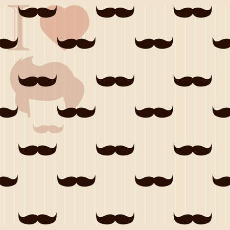 fake mustaches: Vintage retro hipster mustache wallpaper