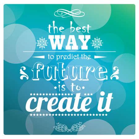 Quote, inspiration message, typographic, vector illustration Stock Illustratie
