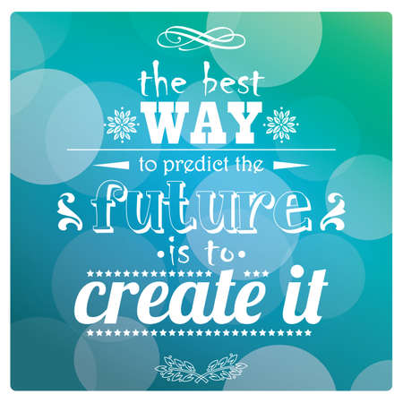 Quote, inspiration message, typographic, vector illustration Illusztráció