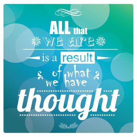 Quote, inspiration message, typographic, vector illustration Illustration
