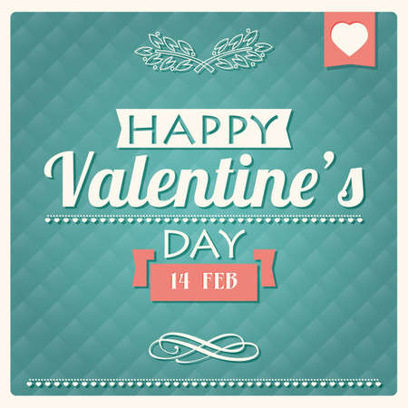 Happy Valentine s day typographical poster, illustration