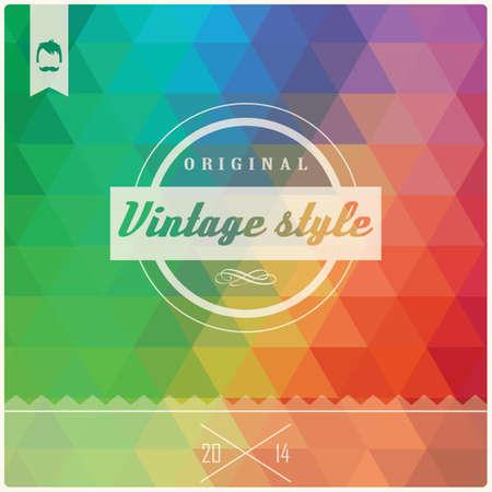 typography vector: Vintage retro hipster label, typography, geometric design elements, vector illustration Illustration