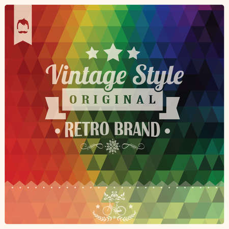 Vintage retro hipster label, typography, geometric design elements, vector illustration Vector