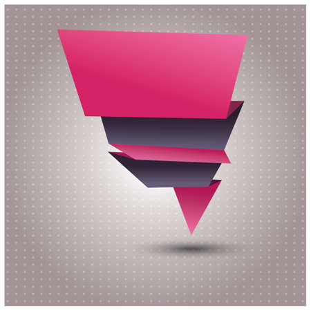 Abstract origami vector banner, vector illustration Vector