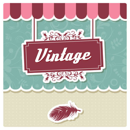 Vintage Retro Card Design Greeting Menu Invitation Birthday