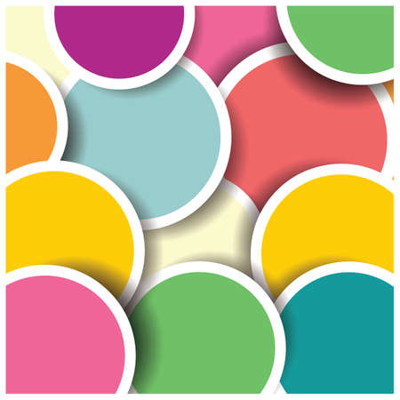 Abstract 3d circle background, colorful pattern design Vector