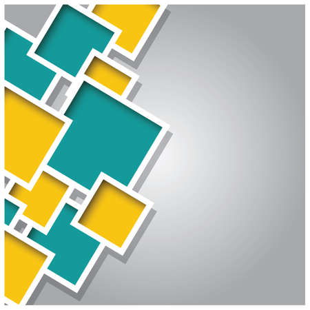 building block: Abstract 3d square background, colorful tiles, geometric illustration
