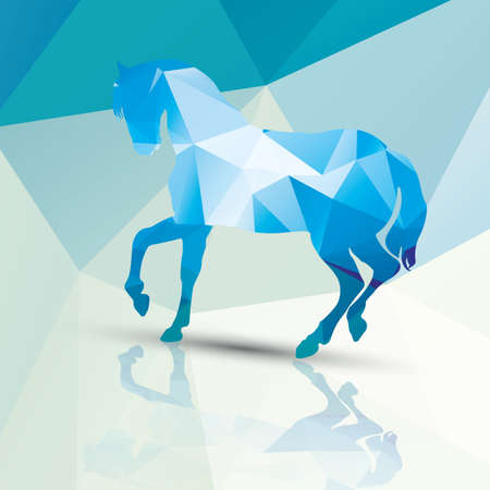 Geometrische veelhoekig paard patroon ontwerp Stock Illustratie
