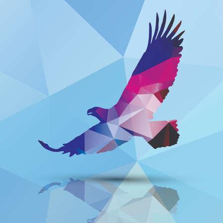 abstract illustration: Design geometrico eagle modello poligonale Vettoriali