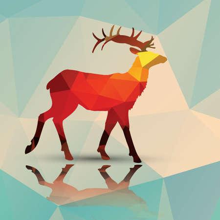기하학적 다각형 사슴 패턴 디자인