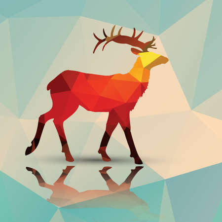 polygonal: Geometric polygonal deer pattern design